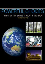 Powerful choices: transition to a biofuel economy in Australia