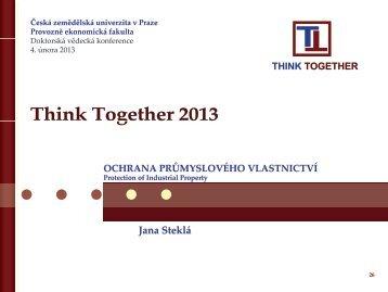 Ochrana průmyslového vlastnictví - Think Together 2013 - Česká ...