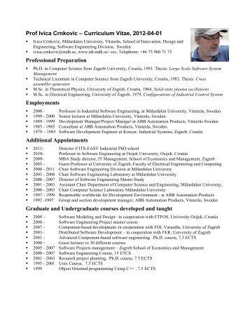 detailed curriculum vitae