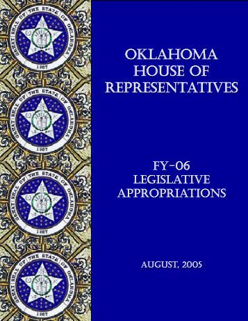 FY-06 Legislative Appropriations - Oklahoma House of ...