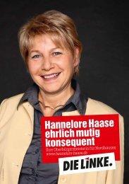 Hannelore Haase ehrlich mutig konsequent - DIE LINKE ...
