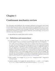 Continuum Mechanics Primer - USC Geodynamics