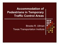Accommodation of Accommodation of Pedestrians in Temporary ...