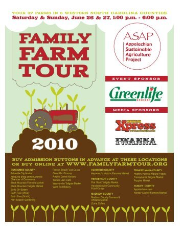 2010 Family Farm Tour Brochure - Buncombe County