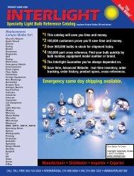Specialty Light Bulb Reference Catalog - Interlight