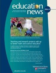 In memorium » PDF version of newsletter - College of Education ...