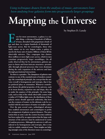 Mapping the Universe - Scientific American Digital