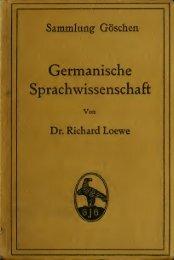 Germanische Sprachwissenschaft - Scholars Portal