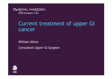 William Allum - The Royal Marsden