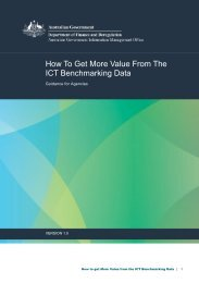 How to get More Value from the ICT Benchmarking Data - Australian ...