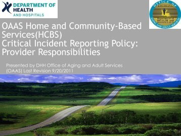 Critical Incident Reporting Policy - Louisiana Department of Health ...