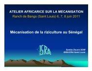 Mécanisation de la riziculture au Sénégal - Africa Rice Center