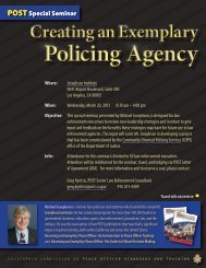 Creating an Exemplary Policing Agency - Josephson Institute of Ethics