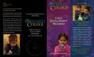 Child Development Brochure - Oxnard College