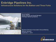 Enbridge Pipelines Inc. - Montana Petroleum Association