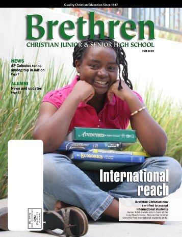 Brethren Magazine Fall 2009.indd - Brethren Christian Junior ...
