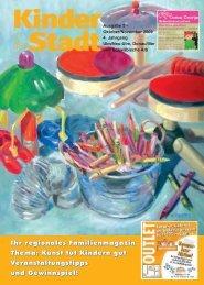 Ihr regionales Familienmagazin Thema: Kunst tut Kindern gut ...