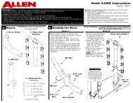 545RR Instructions - Allen Sports