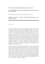 L'analyse sociologique des rémunérations : bilan et ... - pierrefrancois