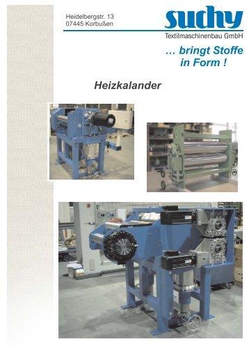 Heizkalander - Suchy Textilmaschinenbau GmbH