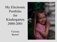 Kindergarten Portfolio (PDF 1.4 MB) - Dr. Helen Barrett's Electronic ...