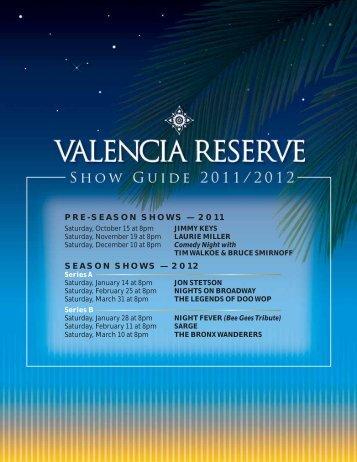 PRE-SEASON SHOWS — 2011 SEASON SHOWS ... - GL Homes
