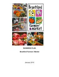 Business Plan for Farmers' Market - City of Brantford
