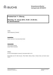 Protokoll 15. Januar 2013 - Gemeinde Buchs