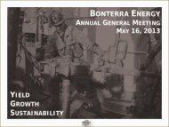 AGM Investor Update - May 2013 - Bonterra Energy Corp.