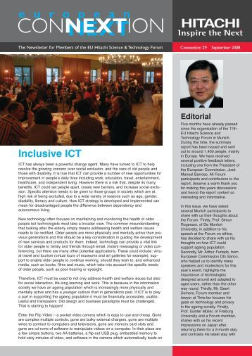 Issue 29 - Hitachi Science & Technology Forum