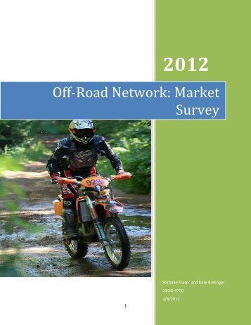 Off-Road Network: Market Survey - Haliburton County Community ...