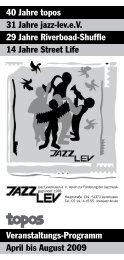 p·r·o·g·r·a·m·m - Jazz Lev e. V.