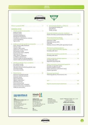 Posledné vydanie 2012 - INFOMA