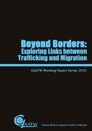 Exploring Links between Trafficking and Migration - Global Alliance ...