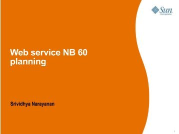 Web service NB 60 planning Srividhya Narayanan - NetBeans Wiki