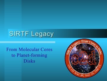 c2d Legacy Program---General Introduction - Star Formation Group ...