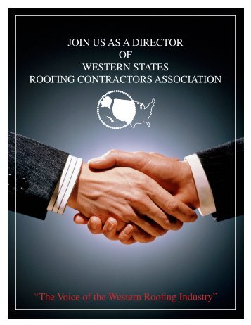 The Voice of the Western Roofing Industry - Western States Roofing ...