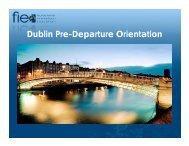 Dublin Pre-Departure Orientation - Foundation for International ...