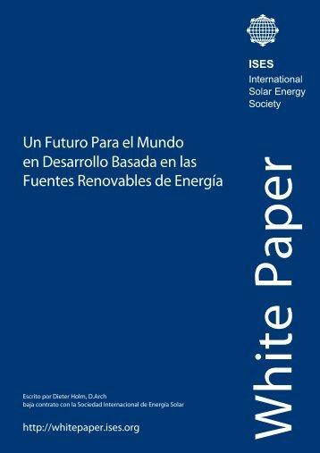 Un Futuro Para el Mundo en Desarrollo Basada ... - ISES White Paper