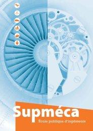 Plaquette de l'école - Supméca