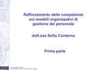 Rafforzamento delle competenze sui modelli organizzativi di ... - Cisi