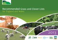 Recommended Grass and Clover Lists - British Grassland Society