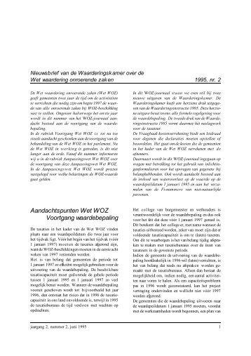WOZ-journaal 1995.2 - Waarderingskamer