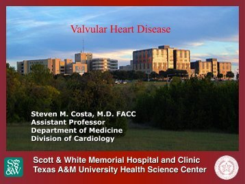 Valvular Heart Disease - Healthcare Professionals
