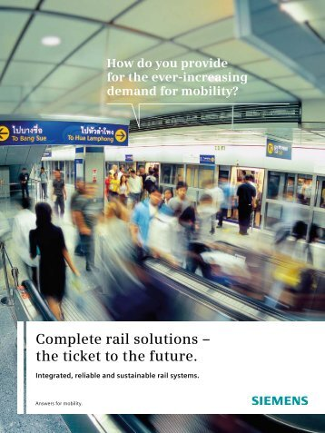 Complete rail solutions – the ticket to the future.