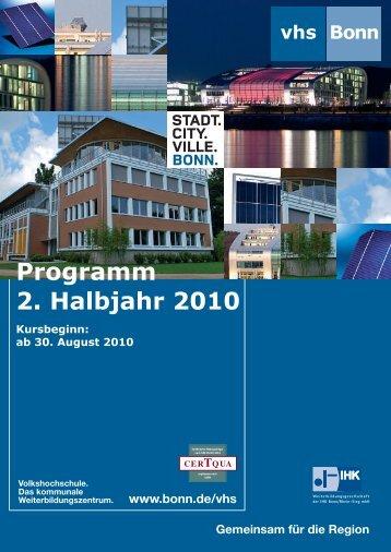 Programm 2. Halbjahr 2010 - Wirtschafts- und ...
