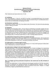 Cand.merc.-linien i Marketing, 2007 - Det Samfundsvidenskabelige ...