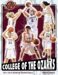 2011-2012 bobcat basketball media guide - College of the Ozarks