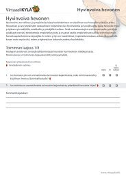 Hyvinvoiva hevonen PDF-tiedostona - VirtuaaliKYLÄ