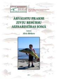 ārvalstu prakse zivju resursu aizsardzības jomā - Sabiedrības ...